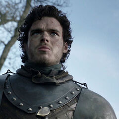 Robb after his victory in the Battle of the Whispering Wood in