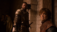 Tyrion and Ser Meryn in 2x6