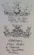 Purple Wedding crowns concept art