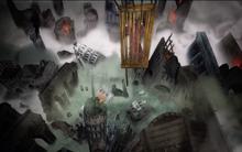 Garin on his fallen city