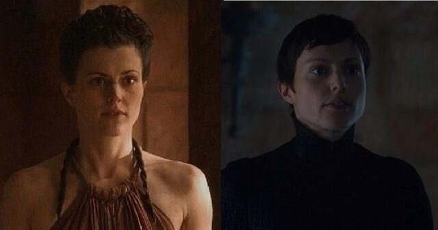File:Bernadette Season 2 versus Season 7.jpg