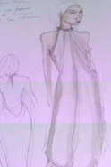 Daenerys costume Season 1 display dress concept art