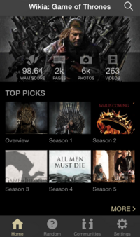 Game of Thrones Wiki iPhone App 1