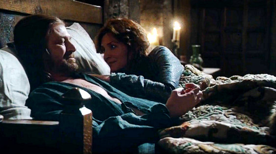 File:Winter is Coming ned and Cat in bed.jpg