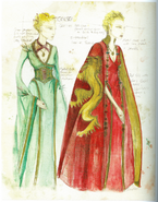 Cersei costume Season 1 concept art 1