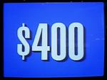 Jeopardy! 1991 $400 dollar figure