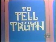 To Tell The Truth Logo 1971