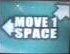 Move 1 Space (Left and Up-Right)