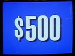 Jeopardy! 1991 $500 dollar figure