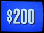 Jeopardy! 1991 $200 dollar figure