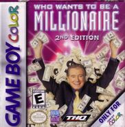 Who Wants To Be A Millionaire 2nd Edition GameBoy Color Video Game
