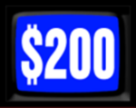 Jeopardy! 1984-1985 $200 Dollar Figure