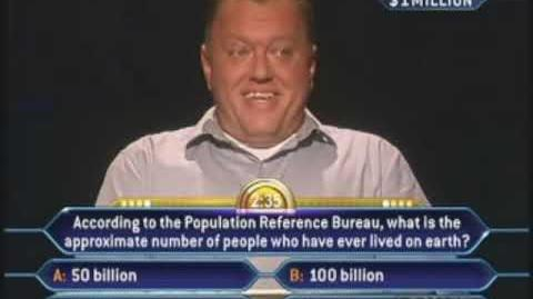 Sam Murray's Million Dollar Question - Who Wants to be a Millionaire Old Format