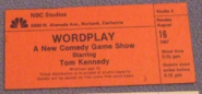Wordplay (August 16, 1987)