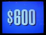 Jeopardy! 1991 $600 dollar figure