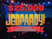1996 Jeopardy! College Championship title card