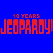 Jeopardy! 10 Years Logo