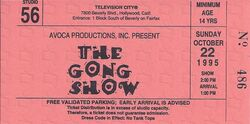 The Gong Show 1995 Ticket