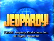 Jeopardy! 1995 Closing Title Card
