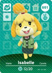 Amiibo AC Isabelle card