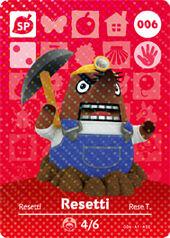 Amiibo AC Resetti card