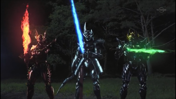 File:Makai Knights Garo, Gai & Zen's funeal flames.png