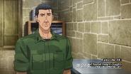 Major Nyutabaru greets Itami in Intro to Anime Episode 24
