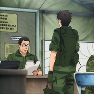Major Wataru Higaki orders Itami to command Third Recon Team Anime episode 2