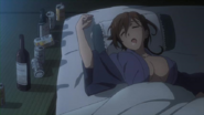 Shino Kuribayashi drunk at the hotsprings Anime episode 9