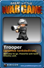 GLWG trading card trooper