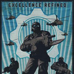 Otro Poster sobre el reclutamiento de la Academia Militar de Halvo Bay