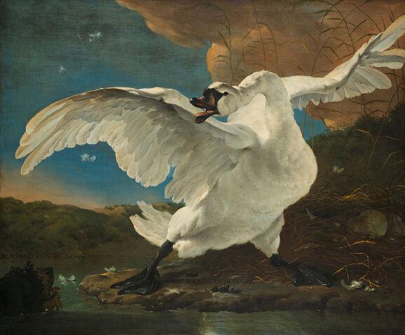 File:The-threatened-swan-jan-asselijin-1650.jpg