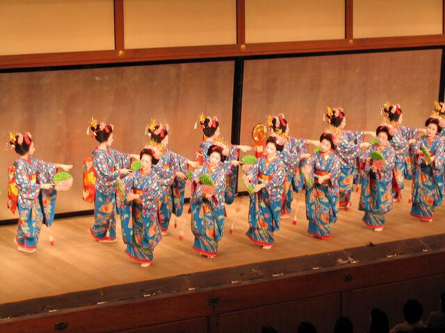 File:Miyako Odori; cherry dance in Kyoto.jpg