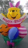 Disney Winnie The Pooh Airblown Inflatable 6' Yard Decoration RARE GIANT