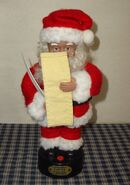 Vintage 1996 Gemmy North Pole Collection 12'' Santa Checking His List 2
