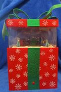 Gemmy Animated Train Scene in Christmas Present