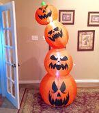 Gemmy Prototype Halloween Pumpkin Stack Inflatable Airblown