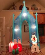 Gemmy Prototype Christmas Frozen Olaf Archway Inflatable Airblown