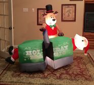 Gemmy Prototype Christmas Magic Trick Inflatable Airblown