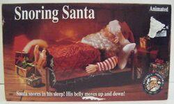 Gemmy animated snoring santa