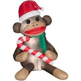 AIRBLOWN INFLATABLE CHRISTMAS SOCK MONKEY