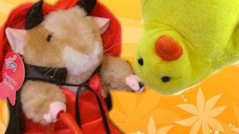 Dancing Hamster - She-Devil Hamster in a red dress - Devil in Disguise