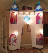 Gemmy Prototype Frozen Olaf Elsa Anna Kristoff Inflatable Airblown