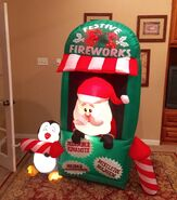 Gemmy Prototype Christmas Fireworks Inflatable Airblown