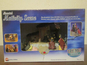 Gemmy Narrated Nativity Scene Lighted Musical Birth Of Jesus Story 2002