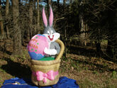 NEW Gemmy Prototype 6' Tall Lighted Easter Bugs Bunny w EGG Airblown Inflatable