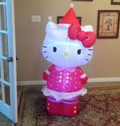 Gemmy Prototype Christmas Hello Kitty Inflatable Airblown