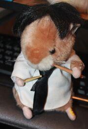 2002 Gemmy Dancing Hamster Buddy Drummer Sings Beatles Birthday Song Works!