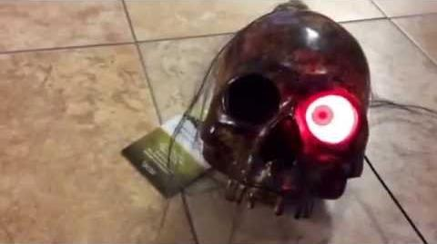 NEW FOR 2016 HALLOWEEN Gemmy animated Crusty Skull with moving light up eye from At Home