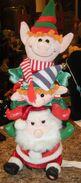 Gemmy Santa & Elves Animated Musical Light Up Christmas Plush 17''